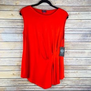 Vince Camuto Marrakech Fash Fiery Red Blouse